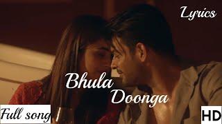 Bhula Dunga (Darshan Raval)Pop Video Song-Mp3 Song  Sidharth Shukla - Shehnaaz Gill  With lyric