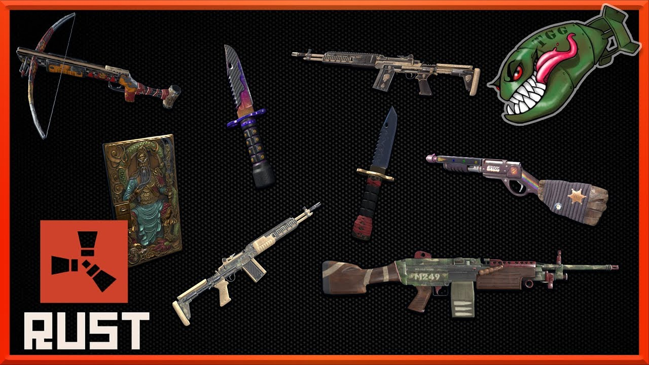 Rust Skins | M249 & M39 Skins, New Knives, Scrapper Crossbow #113 (Rust  Skin Preview)