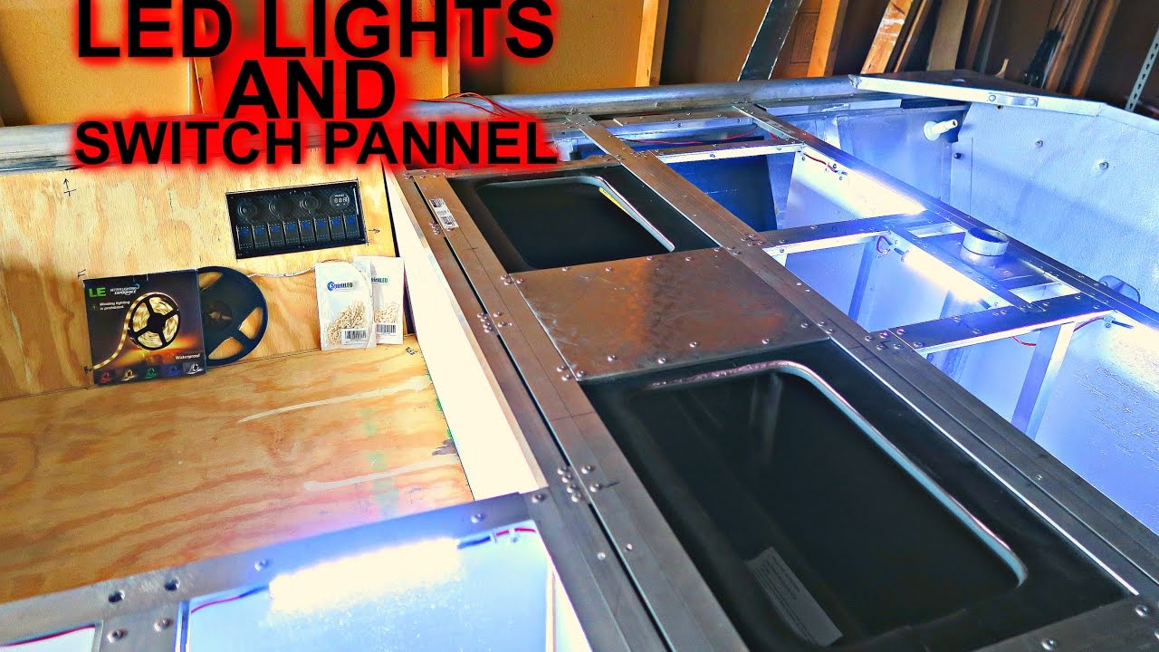Where To Get Led Light Strips Led Lights And Switch Panel: Jon Boat To Bass Boat - Youtube