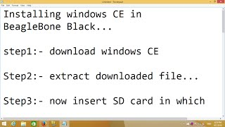 Installing Windows CE in Beaglebone Black