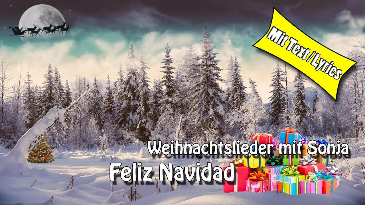 Weihnachtslieder / Christmas Song - Feliz navidad - zum Mitsingen ...