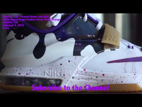 Nike KD 7 PBJ White Fuchsia Flash Team Orange Grape