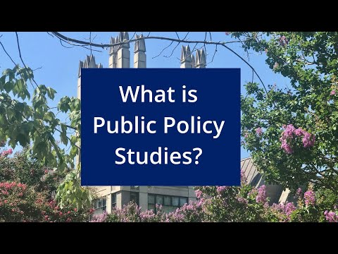 What is Public Policy Studies?