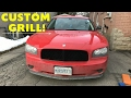 Black Mesh Grille! 2006-10 Dodge Charger Grill Removal & Installation! GREAT CHEAP MOD