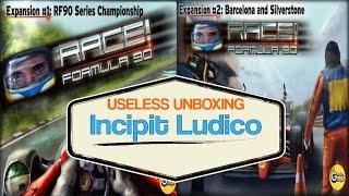 [002] Useless Unboxing - Espansioni #1/#2 Race Formula 90! - Incipit Ludico