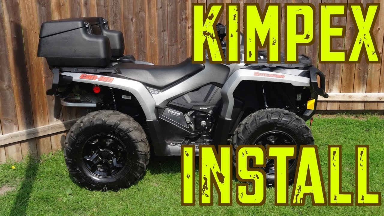2015 Can Am Outlander XT 1000 Trail Build Kimpex ATV Accessories