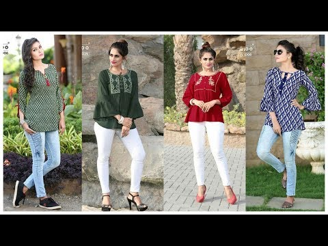 Latest Jeans Top Designs for girls !! College wear Outfits ieda !! Stylish Top& kurti For Women's. http://bit.ly/2zwnQ1x