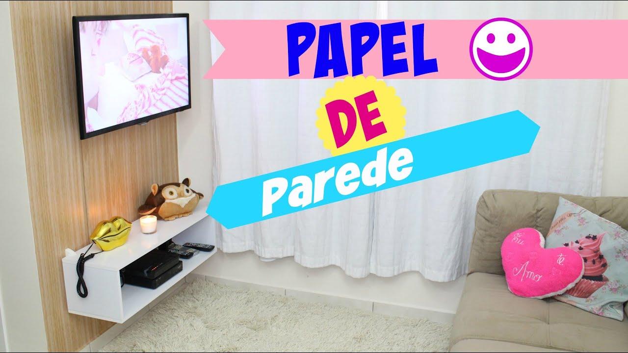 Decorando a sala com papel de parede aplique f cil youtube - Adsl para casa barato ...