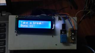 Pomodoro Timer + Date and Time LCD 16x2 + Weather station with Arduino Uno and DHT 11 + DS1307