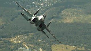 Irkut Corporation - Su-30SM Advanced Flanker-C Fighter Flight Demo [480p]