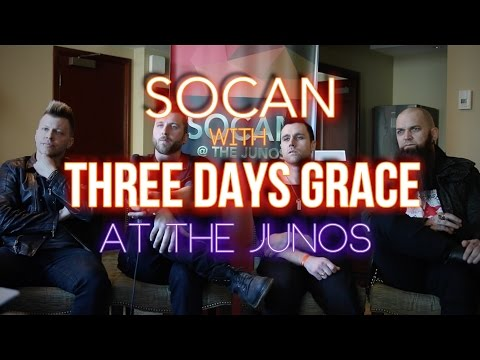 Three Days Grace - With SOCAN at the JUNOs