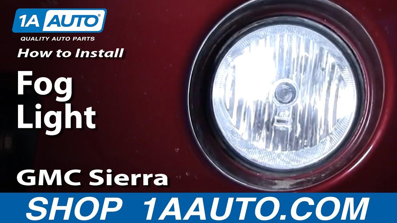 how to replace fog lights 03 06 gmc sierra 2500 [ 1280 x 720 Pixel ]