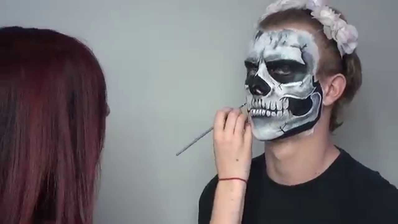 Grim Reaper Face Paint Youtube