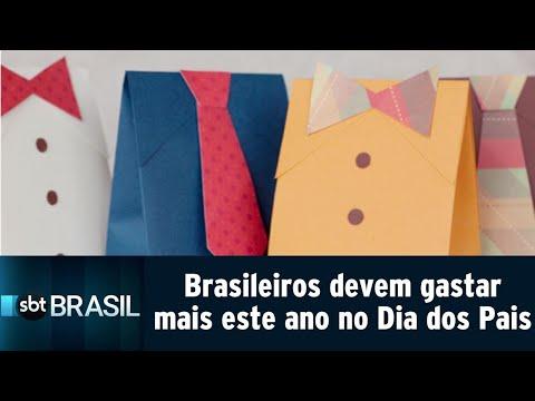 Brasileiros devem gastar mais este ano no Dia dos Pais | SBT Brasil (08/08/18)
