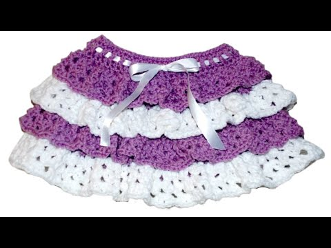 How To Crochet Ruffles Onto Childs Skirt Crochet Jewel Youtube