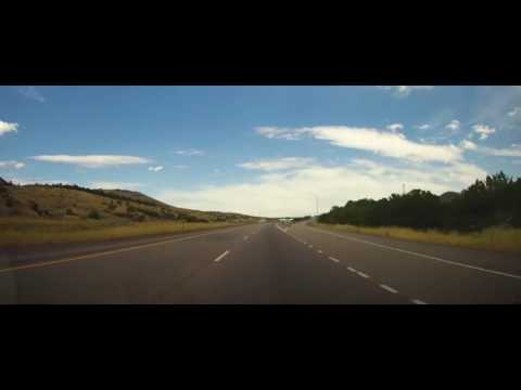 Driving on Interstate 15 from Nephi to Filmore, Utah