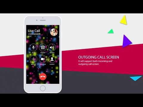 Live Call Screen Theme Color Phone X OS 11 Dialer - YouTube
