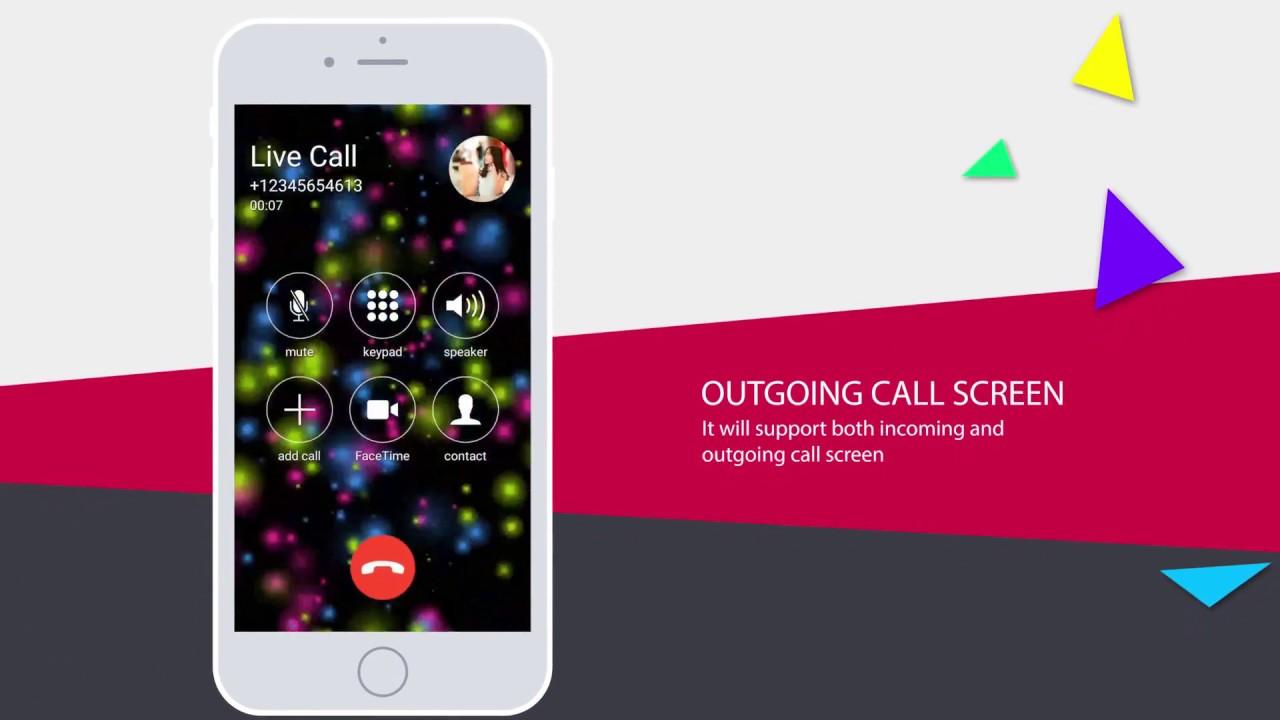 Live Call Screen Theme Color Phone X OS 11 Dialer