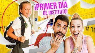 ¡PRIMER DÍA de ELAIA en el INSTITUTO! 📚VUELTA AL COLE 2019 - Familia Carameluchi