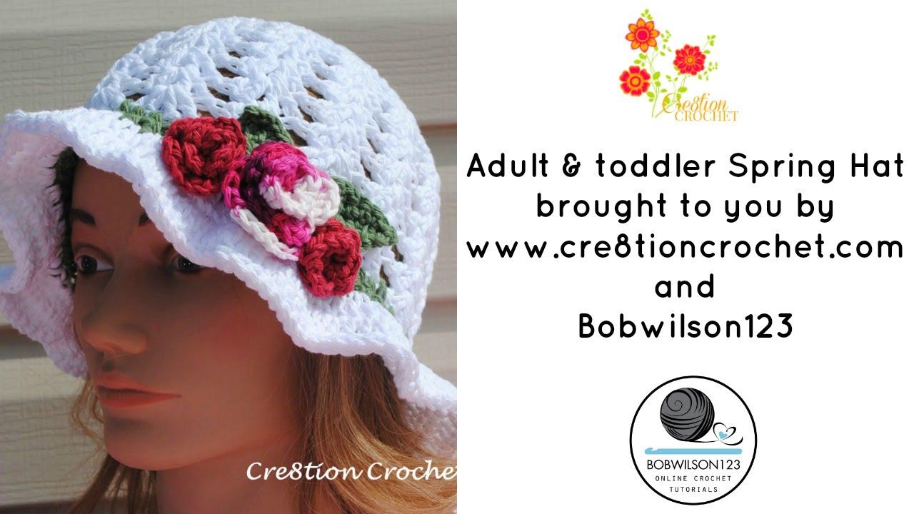 Crochet Spring / Easter Hat Tutorial - YouTube