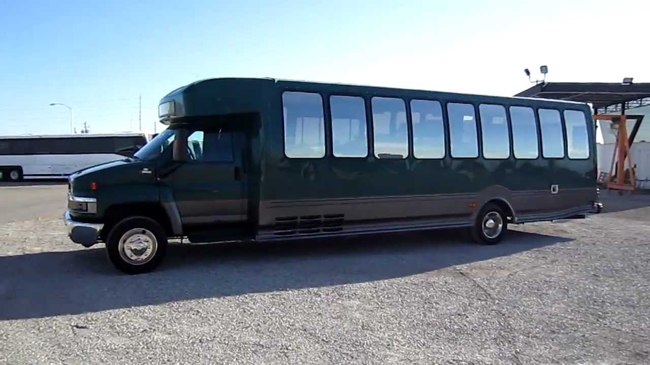 All Chevy chevy c5500 bus : used turtle top bus on c5500 chassis - YouTube