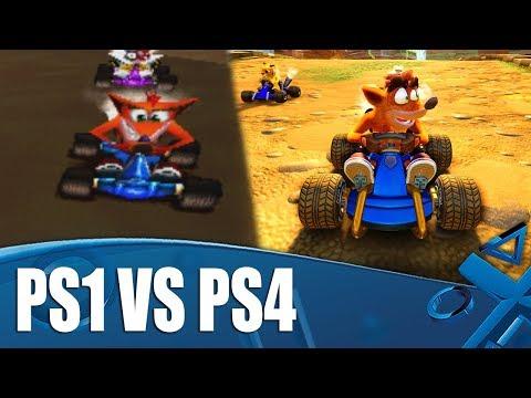 Crash Team Racing Nitro-Fueled - PS4/PS1 Graphics Comparison