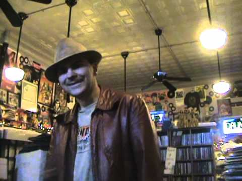 Crazy Jeff stops by TOMS MUSIC TRADE to show off his pimp look