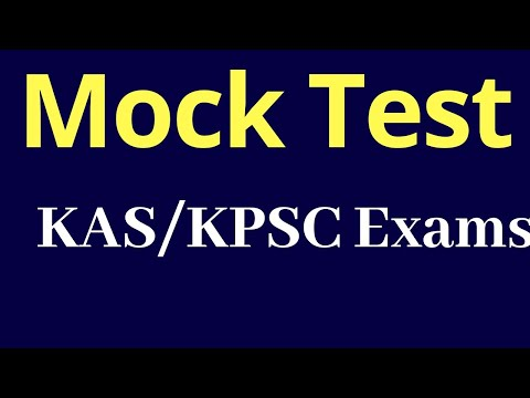 Mock TEST for KAS and KPSC Exams