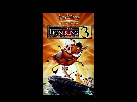 Digitized opening to The Lion King 3 Hakuna Matata (UK VHS)