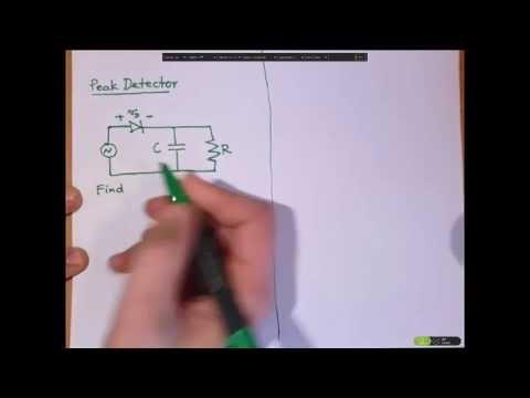 peak detector circuit explanation youtube rh youtube com Peak Voltage Detector Trough Detector Circuit