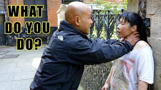 How to Survive Violent Attacks frontal choke against a wall | Women's Self Defense thumbnail