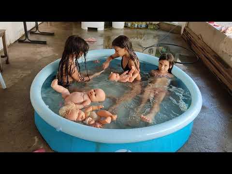 Desafio de matemática na piscina