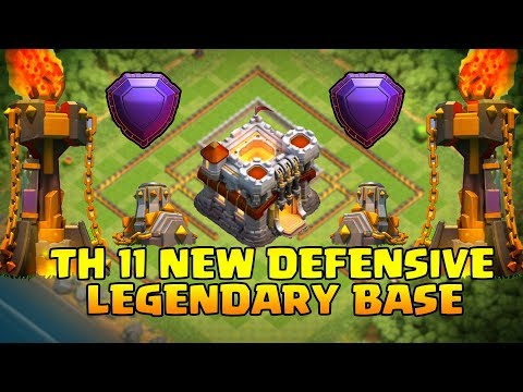 Thumbnail: TH11 BEST LEGENDARY DEFENSE BASE WITH REPLY 2017 / ANTI 2 STAR BASE | CLASH OF CLANS