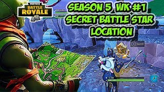 Secret Battle Star Location Guide for Season 5 Week 1 - Fortnite Battle Royal