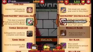 Fruit Ninja Mod Apk  All Items Unlocked With 5 Additional Blades And Additional 3 Dojos