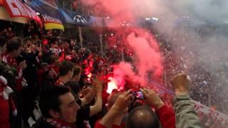 Juventus Turin - FC Bayern München Champions League 2012/13 Pyro