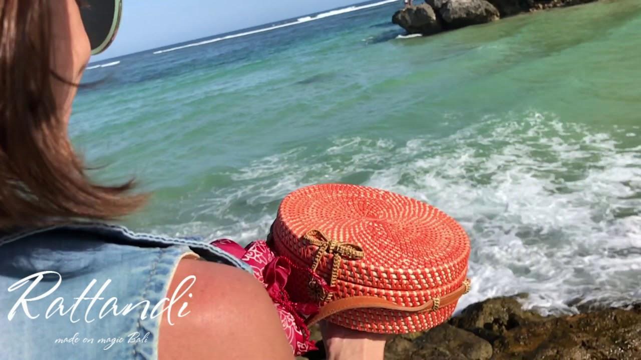 Сумки из ротанга, плетеные сумки от Rattandi - YouTube