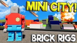 MINI LEGO CITY DESTROYED BY METEOR STRIKE! - Brick Rigs Roleplay Gameplay - Lego Toy Creations