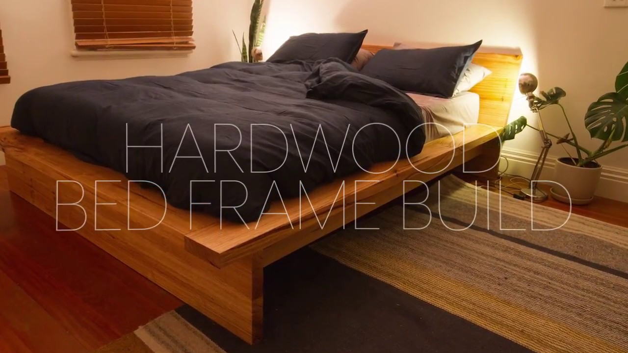 DIY Hardwood Bed Frame Build - YouTube