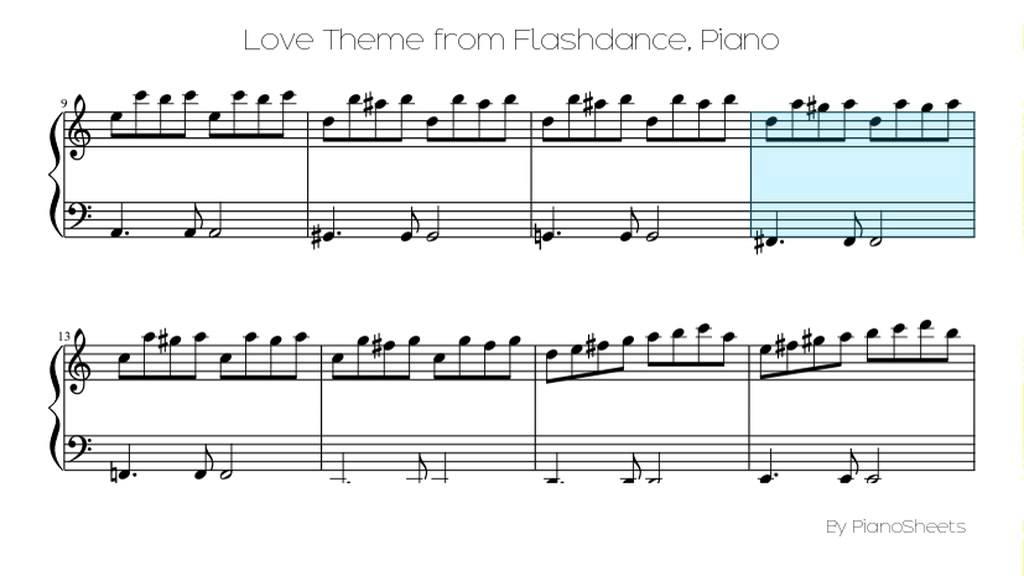 LOVE THEME FROM FLASHDANCE PDF
