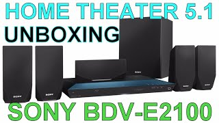 HOME THEATER SONY BDV- E2100 UNBOXING