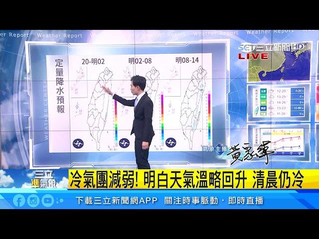 急凍!冷氣團報到北市最低溫探11度|三立準氣象|20200118|三立新聞台