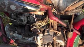 Vintage Indian motorcycle patina- 2011 Davenport