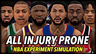 I Made Every NBA Player INJURY PRONE... and this is what happened.