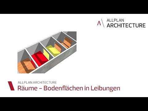 CAD / BIM-Software Allplan Architecture: RÄUME BODENFLÄCHE IN LEIBUNGEN