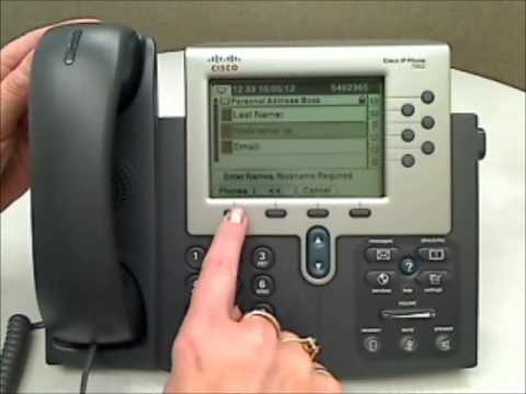 cisco 7900 series personal directory youtube