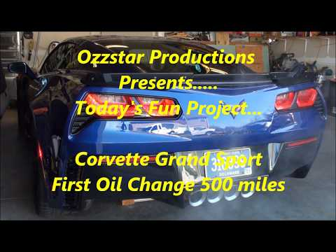 C7 Corvette Oil Change - Tips And Tricks - 2014-2019