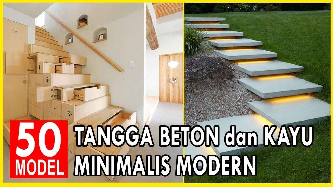 50 Desain Model Tangga Beton Dan Kayu Rumah Minimalis Terbaru Youtube