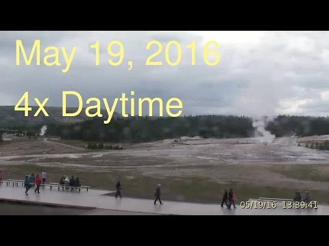 May 19, 2016 Upper Geyser Basin Daytime 4x Streaming Camera Captures