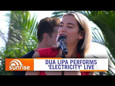 Dua Lipa performs 'Electricity' live on Hamilton Island, Australia | Sunrise